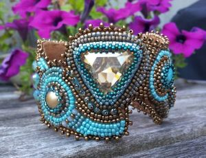 Cuff Triangle & turquoise 1