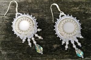 oorbellen white bride