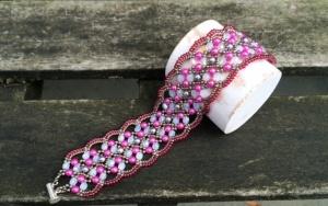 Armband Maroon Hot Pink