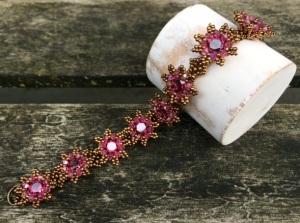 Armband La Fleur Fuchsia