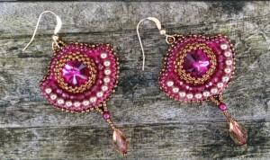 Oorbellen Fuchsia Diamonds