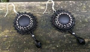 Oorbellen Black Drops