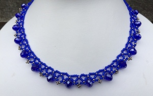 Ketting Rondelle Royal Blue
