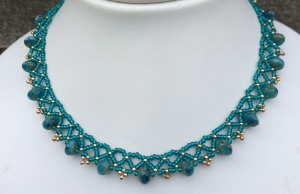 ketting Rondelle Turquoise Teal