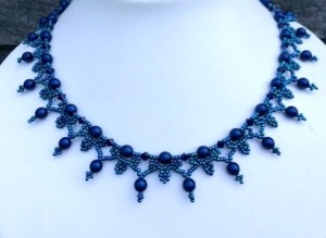 Ketting Blue Pearls