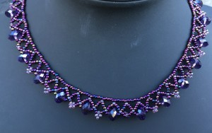 Ketting Rondelle Purple