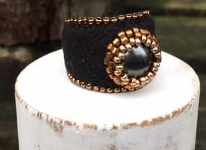 Ring Black & Bronze