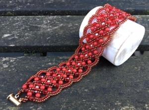 Armband Maroon Red