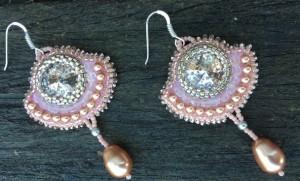 Oorbellen Rose Gold Patina Diamonds