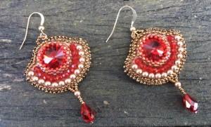 Oorbellen Royal Red Diamonds