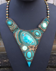 Ketting Pointy Turquoise 1