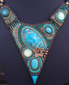 Ketting Pointy Turquoise 2