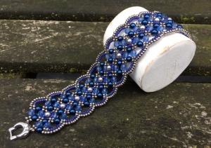 Armband Maroon Blue