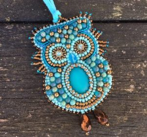 Hanger Uiltje Turquoise
