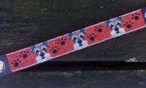 armband-schnauzer-rood-op-leer